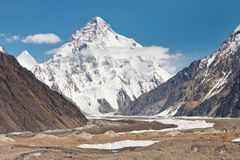 K2, το δεύτερο υψηλότερο βουνό στον κόσμο Στοκ φωτογραφίες με δικαίωμα ελεύθερης χρήσης