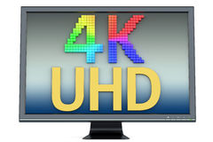 4K υπερβολική πολύχρωμη έννοια HD Στοκ εικόνα με δικαίωμα ελεύθερης χρήσης