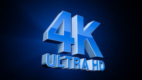 4K υπερβολικό HD Στοκ εικόνα με δικαίωμα ελεύθερης χρήσης