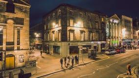 4K χρονικό σφάλμα στην οδό του Λονδίνου απόθεμα βίντεο