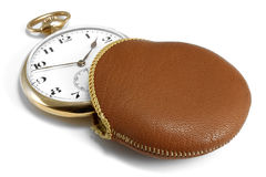 14k χρυσό ρολόι τσεπών Στοκ φωτογραφία με δικαίωμα ελεύθερης χρήσης