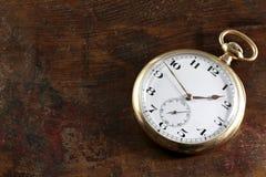 14k χρυσό ρολόι τσεπών Στοκ Εικόνες