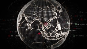 4K ψηφιακός λευκόχρυσος παγκόσμιων στοιχείων απεικόνιση αποθεμάτων