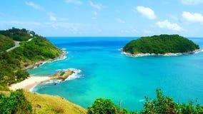4K видеоклипы, самый красивый пункт вида на море в Пхукете, Таиланде, земле видеоматериал