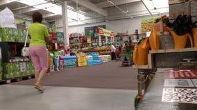 4K Германия, город Гейдельберга, 18 08 2016 год Баухауз магазина оборудования сток-видео
