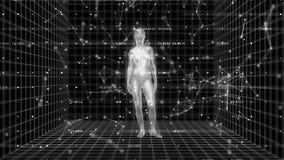 4K конспект a I Искусственный интеллект с женской формой бесплатная иллюстрация