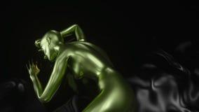 4K конспект a I Искусственный интеллект с женской формой иллюстрация штока