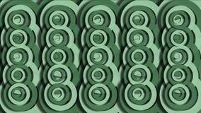 4k резюмируют картину облака пульсации кольца круга, круглую бумагу, текстуру закусок печенья акции видеоматериалы