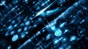 4K резюмируют плавать частицы предпосылки и светового эффекта и подачу с темнотой и пользовательский интерфейс зерна processed4K  иллюстрация штока