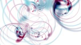 4k резюмируют спиральную кривую скручиваемости, линии свирли нашивок, неон аэродинамической трубы циклонов иллюстрация вектора