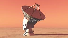 4k спутниковые антенна-тарелки, очень большое упущение Обсерватори-времени радио, воинский радиолокатор акции видеоматериалы