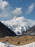 K2在喀喇昆仑,巴基斯坦 库存照片