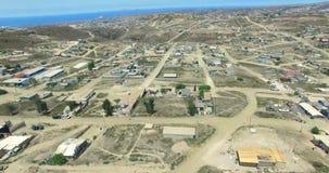4K从墨西哥城市飞机的鸟瞰图  影视素材