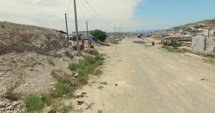 4K从墨西哥城市飞机的鸟瞰图  股票录像