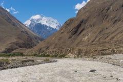 K2迁徙的足迹,斯卡都,基尔吉特,巴基斯坦风景  免版税库存图片