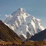 K2,喀喇昆仑山,巴基斯坦 免版税库存照片