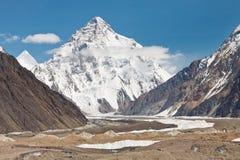 K2,第二座高山在世界上 免版税库存照片