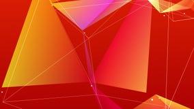 Το πορτοκάλι ζωντάνεψε τη γεωμετρική αφαίρεση, 4k βίντεο απεικόνιση αποθεμάτων