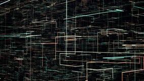Φουτουριστική ζωτικότητα τεχνολογίας, 4k βίντεο ελεύθερη απεικόνιση δικαιώματος