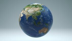 Γη που περιστρέφεται άνευ ραφής περιτύλιξη απομονωμένο 4K με τη μεταλλίνη Luma ελεύθερη απεικόνιση δικαιώματος