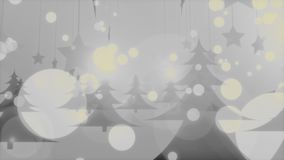 Ομιχλώδης Χριστουγέννων βρόχος χειμερινού τηλεοπτικός υποβάθρου του //4k 60fps κρύος μυστήριος απεικόνιση αποθεμάτων