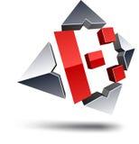 K 3d letter. Royalty Free Stock Image