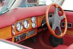 奔驰车500k驾驶舱 免版税库存照片
