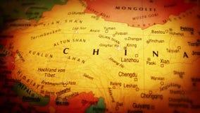 Глобус Китай - близкое поднимающее вверх - 4k