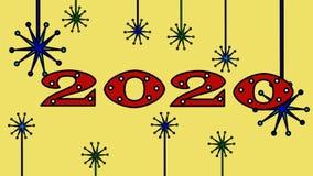 4k Año Nuevo video 2020, Año Nuevo de la animación 2020 de la historieta