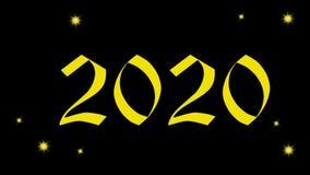 4k Año Nuevo video 2020, Año Nuevo de la animación 2020