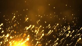 4K Aabstract Particles gold event awards trailer titles cinematic concert stage loop background