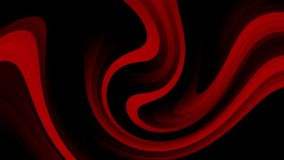 4k abstract background animation of curved red and black moving stripes. Looped animation royalty free illustration