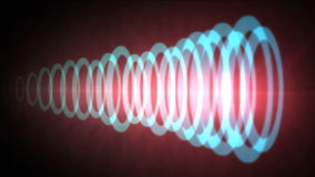 4k Abstract circle ring ripple pulse laser,sound tunnel,wireless Internet data. stock video footage