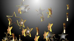 4k Abstract 3d five-pointed star particle design art space symbol background.