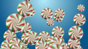 4k Abstract 3d lollipops candy ball sphere particle holiday gift background.