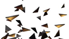 4k Abstract 3d triangle shard particle design technology art glass background. 4k Abstract 3d triangle glass shard broken space particle design technology art stock video footage