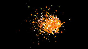 4k Abstract explosions particle,bubble dust blister fireworks dots background. stock video