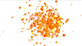 4k Abstract explosions particle,bubble dust blister fireworks dots background. stock footage