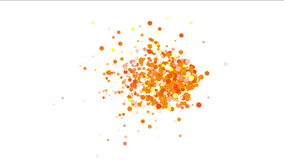 4k Abstract explosions particle,bubble dust blister fireworks dots background. stock video footage