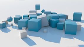 4K Abstract Falling Cubes.