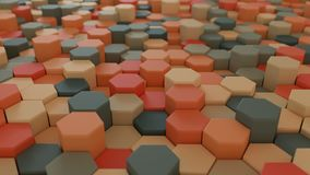 4K Abstract Honeycomb Grid. Technology background. 3D Animation stock footage