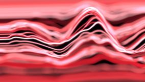 4K Abstract lines in a wave pattern. Seamless loop stock illustration