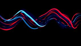 4K Abstract Neon Wavy Lines. Seamless loop stock footage