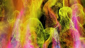 4K Abstract Particle Burst. 3D CGI Animation stock video