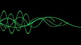 4k Abstract ripple rhythm line background,sound pattern,radar signal technology. stock footage