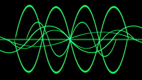 4k Abstract ripple rhythm line background,sound pattern,radar signal technology. stock video