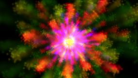 4k Abstract rotating color flower light pattern background,art firework element. 4k Abstract rotating color flower light pattern background,art fireworks stock footage
