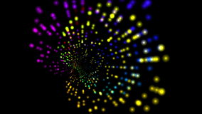 4k Abstract rotation ray light,web tech background.point pattern tech element. stock video