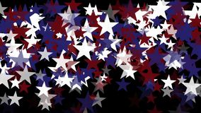 4k Stars particle background,USA United States American flag five-pointed star. 4k Abstract stars particles background,cartoon USA United States American flag stock video