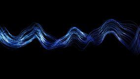 4K Abstract Wavy Lines. Seamless loop stock video footage
